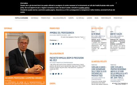 Screenshot of Blog confprofessioni.eu - Blog | Confprofessioni - captured July 15, 2016