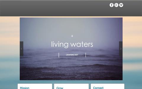 Screenshot of Home Page lwaters.net - Maine Church | Living Waters Christian Church - captured Jan. 30, 2016