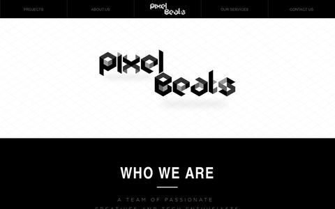 Screenshot of About Page pixelbeats.co.uk - About Us   Pixel Beats - UK - captured Sept. 30, 2014