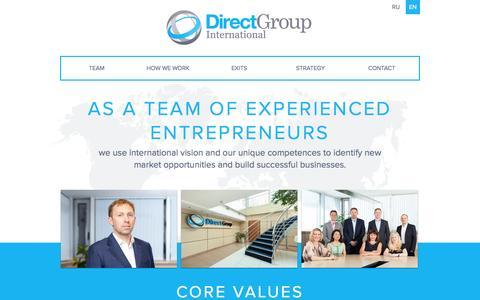Screenshot of Home Page directgroup.org - DirectGroup - captured Sept. 19, 2014