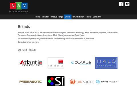 Screenshot of Services Page networkav.com.au - Brands - Network Audio Visual - captured Nov. 29, 2016
