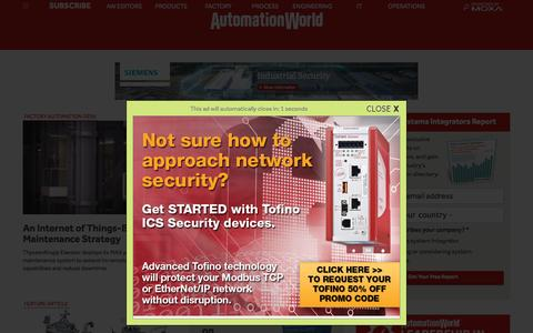 Screenshot of Home Page automationworld.com - Automation World | Covering the field of industrial automation - captured Nov. 3, 2015