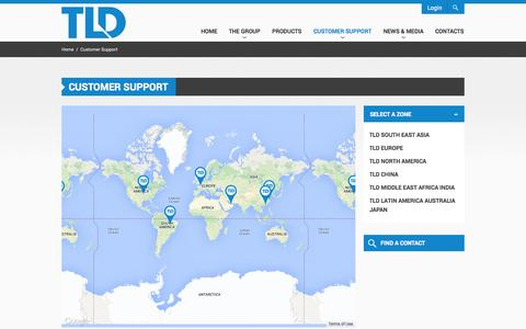 Screenshot of Support Page tld-group.com - Customer Support | TLD GSE - captured Oct. 6, 2014