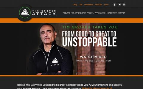 Screenshot of Home Page Signup Page attackathletics.com - Attack Athletics - captured Sept. 30, 2014