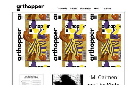 Screenshot of Home Page arthopper.org - arthopper.org - captured Nov. 13, 2018