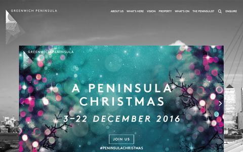 Screenshot of Home Page greenwichpeninsula.co.uk - Homepage - Greenwich Peninsula - captured Nov. 16, 2016