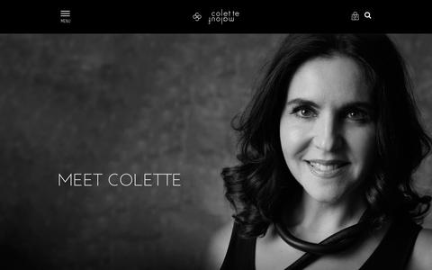 Screenshot of About Page colettemalouf.com - Colette Malouf - captured Nov. 9, 2016