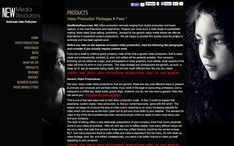Screenshot of Products Page newmediaresources.net - PRODUCTS | NewMediaResources, INC - captured Oct. 9, 2014