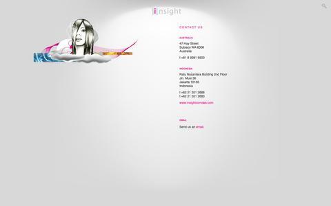 Screenshot of Contact Page insightdesign.com.au - Insight  - Contact Us - - captured Oct. 6, 2014