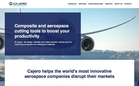 Screenshot of Products Page cajero.co.uk - Drills, routers and countersinks for composites and aerospace materials. - captured Sept. 26, 2018