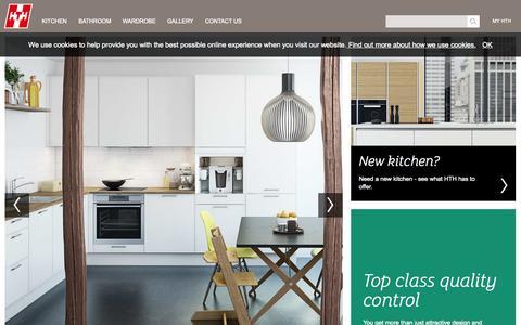 Screenshot of Home Page hth-kitchen.com - Start - captured Oct. 1, 2014