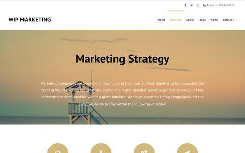 Screenshot of Services Page wipmarketing.com - Search Engine Optimization San Diego | Wip Marketing - captured Jan. 12, 2016