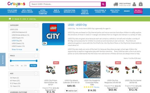 LEGO City - Create a City with these LEGO City Kits and Games for Sale at Crayons
