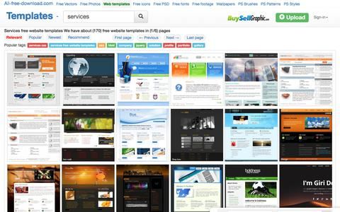 Screenshot of Services Page all-free-download.com - Services free website templates for free download about (170) free website templates. - captured Sept. 21, 2018