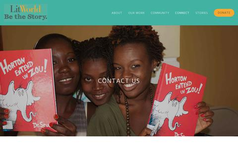 Screenshot of Contact Page litworld.org - Contact Us — LitWorld® - captured July 20, 2018