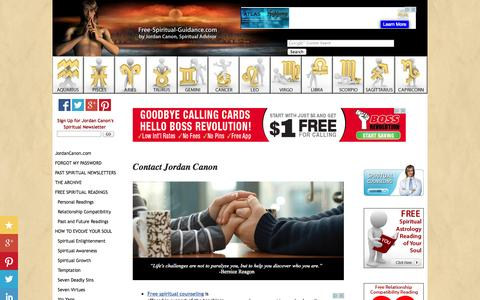 Screenshot of Contact Page free-spiritual-guidance.com - Free Spiritual Consultation Contact Us by E-Mail - captured Nov. 4, 2014