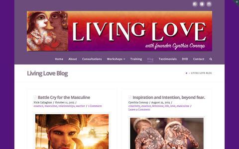 Screenshot of Blog livinglove.com.au - Living Love Blog - captured Dec. 12, 2015