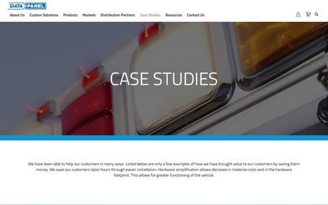 Screenshot of Case Studies Page datapanel.com - Custom Control Module Case Studies | I/O Modules | Data Panel - captured Oct. 7, 2018
