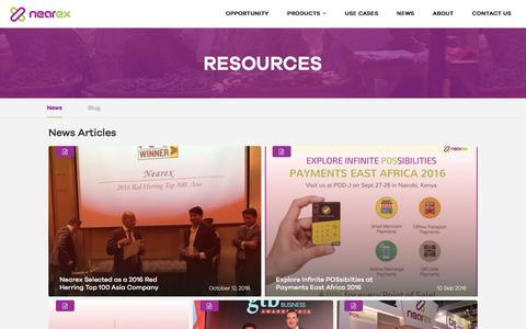Screenshot of Press Page nearex.com - News & Blogs | Nearex | Nearex - captured Dec. 6, 2016