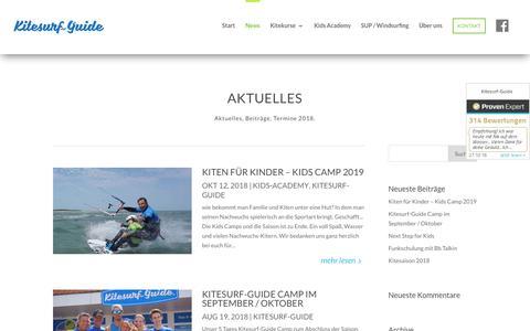 Screenshot of Press Page kitesurf-guide.de - Aktuelles vom Kitesurf Guide - captured Oct. 29, 2018