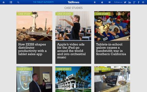 Screenshot of Case Studies Page tabtimes.com - Case study - TabTimes, the tablet business reference - captured Sept. 22, 2014