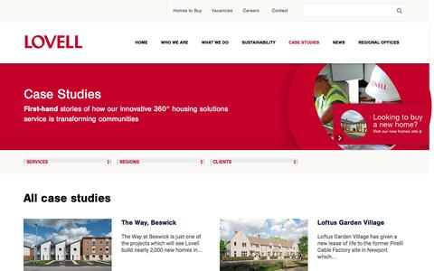 Screenshot of Case Studies Page lovell.co.uk - Case Studies Archive - LovellLovell - captured Feb. 1, 2016
