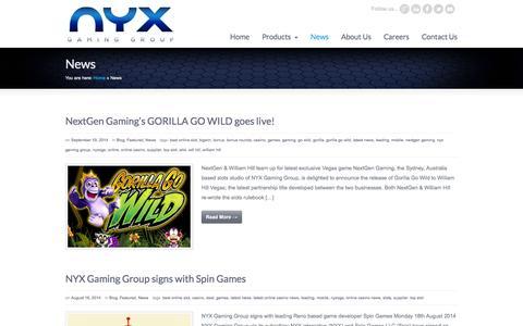 News « NYX Gaming Group