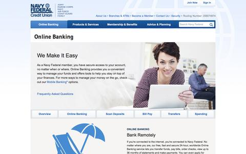 Online Banking | Navy Federal Credit Union