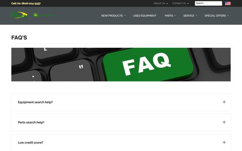 Screenshot of FAQ Page ag-power.com - FAQ's - AG-POWER - captured Oct. 3, 2018