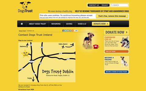 Screenshot of Contact Page dogstrust.ie - Dogs Trust Ireland - Contact Dogs Trust Ireland - captured Sept. 30, 2014