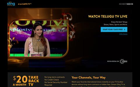 Sling TV - Watch Live Telugu Channels on the #1 Live International TV provider in the US