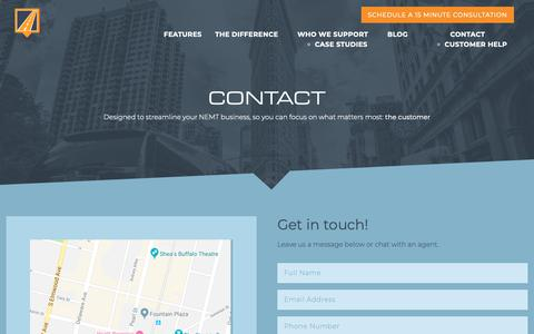 Screenshot of Contact Page routingbox.com - Contact | RoutingBox - captured Oct. 24, 2018