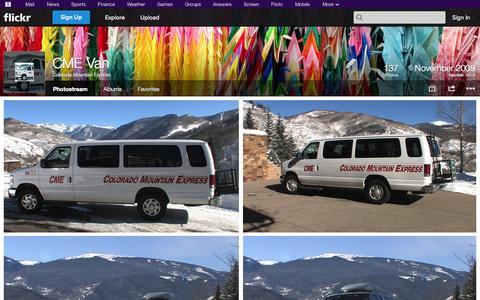 Screenshot of Flickr Page flickr.com - Flickr: Colorado Mountain Express' Photostream - captured Oct. 22, 2014