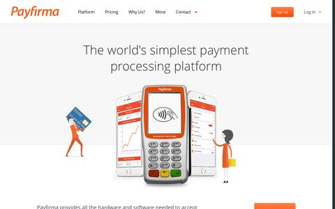 Screenshot of Home Page payfirma.com - Payfirma: Accept Credit Cards, Merchant Services, Payment Processing - captured May 19, 2016