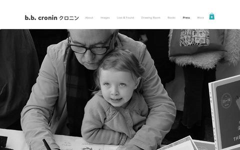 Screenshot of Press Page briancronin.com - Brian Cronin | Illustrator | Press - captured Oct. 6, 2018