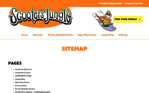 Screenshot of Site Map Page scootersjungle.com - Sitemap - Scooter's Jungle - captured Nov. 6, 2018