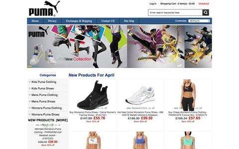 Screenshot of Home Page haymarkethub.co.uk - Puma online shop - Puma clothes & Puma shoes - Haymarkethub.co.uk - captured April 9, 2017