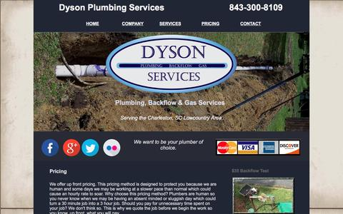 Screenshot of Pricing Page dysonservices.com - Dyson Services | Pricing Information - captured Nov. 24, 2016