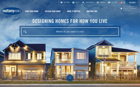 Screenshot of Home Page mattamyhomes.com - Mattamy Homes - Award Winning Home Builder. See new homes for sale in Canada and United States. - captured June 10, 2017