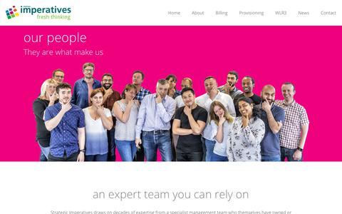 Screenshot of Team Page imperatives.co.uk - Our People - Strategic Imperatives - captured Oct. 20, 2018