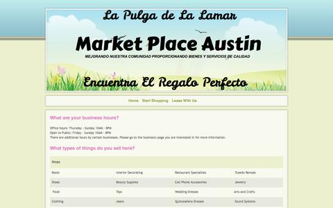 Screenshot of FAQ Page marketplaceaustin.com - Market Place Austin - Frequently Asked Questions - captured June 10, 2017