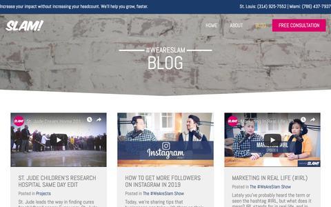 Screenshot of Blog slamagency.com - Blog - SLAM! Agency - captured Feb. 15, 2019