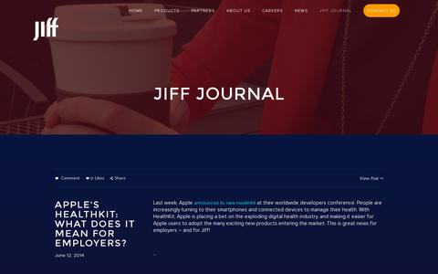 Screenshot of Blog jiff.com - JIFF JOURNAL — Jiff - captured July 19, 2014