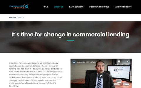 Screenshot of About Page commerciallendingx.com - About Us | CommercialLendingX.com - captured Nov. 5, 2018