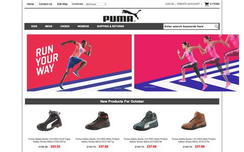Screenshot of Home Page meconopsis.ca - Puma Shoes Store | Cheap Puma Shoes Outlet | Puma Trainers Shoes - captured Oct. 26, 2018