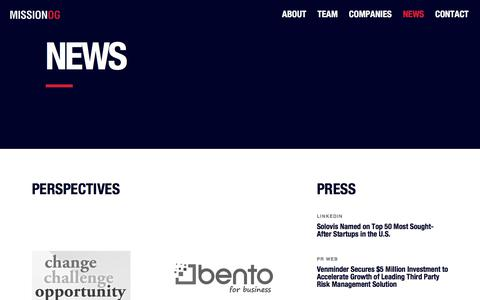 Screenshot of Press Page missionog.com - News – MissionOG - captured Sept. 20, 2018