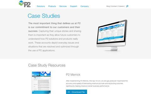 Screenshot of Case Studies Page p2energysolutions.com - Case Studies | P2 Energy Solutions - captured Nov. 20, 2019