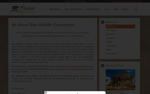 Screenshot of About Page rawildlife.com.au - About Us - captured Dec. 23, 2015