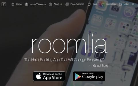Screenshot of Home Page roomlia.com - The Way Booking Should Be › roomlia - captured Oct. 1, 2015
