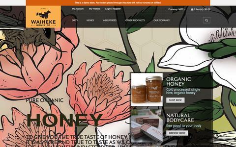 Screenshot of Home Page waihekehoney.co.nz - Waiheke Honey Company - captured Oct. 7, 2014
